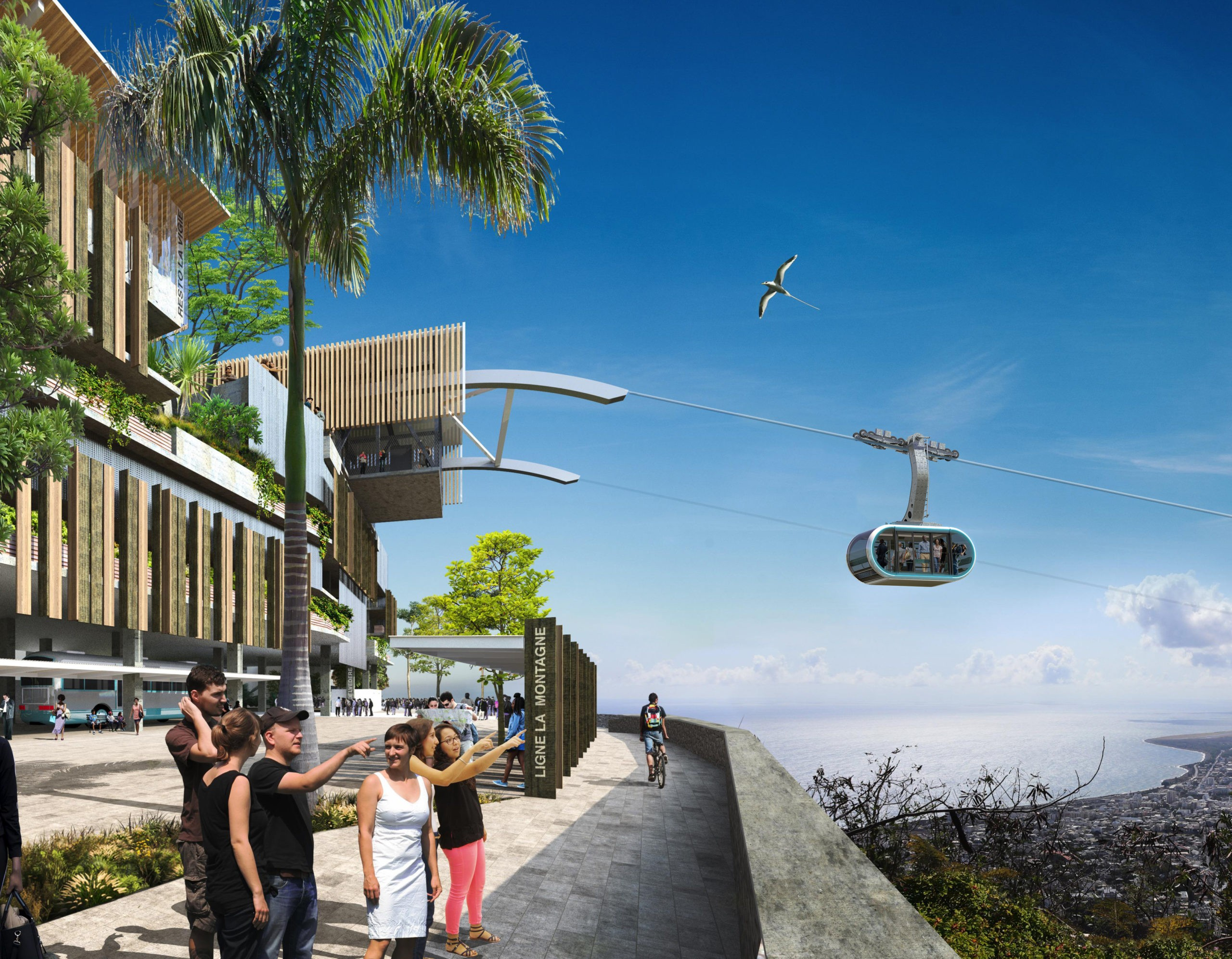Mobility: MND is awarded the construction of the 2nd urban ropeway line in Saint-Denis on Reunion Island