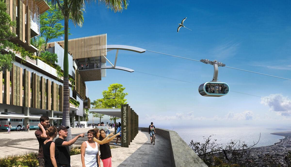 Mobilité : MND remporte la construction de la 2ème ligne du réseau de téléphérique urbain de Saint-Denis à La Réunion